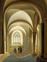 The westernmost bays of the south aisle of the Mariakerk in Utrecht