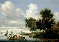 River Landscape with Ferry (3)
