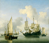 Ships at Anchor on the Coast