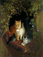 Хенриетта Роннер-Книп: Cat with Kittens