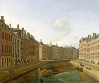 Bend in the Herengracht in Amsterdam