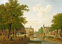 Hendrik Keun: View of the Houtmarkt in Amsterdam (2)