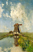 Пауль Йозеф Константин Габриель: A Windmill on a Polder Waterway, Known as 'In the Month of July'