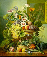 Eelke Jelles Eelkema: Still Life with Flowers and Fruit (2)