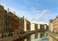 Gerrit Adriaensz. Berckheyde: The 'Golden Bend' in the Herengracht, Amsterdam, Seen from the East