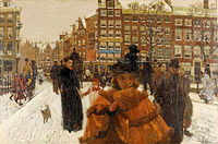 George Hendrik Breitner: The Singel Bridge at the Paleisstraat in Amsterdam