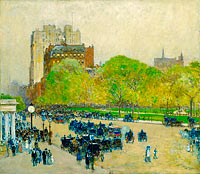 Frederick Childe Hassam: Spring Morning in the Heart of the City