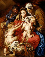 Peter Paul Rubens: The Holy Family with Saint Elizabeth, Saint John, and a Dove