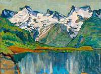 Anna Boberg: A Mountain Lake. Study from North Norway