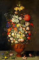 Ambrosius Bosschaert the Elder: Still Life with a Vase of Flowers