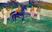 Paul Gauguin: Composition with Figures and a Horse