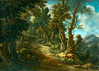 Landscape with a Road through a Forest