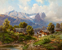 Karl Millner: Partenkirchen in Bavaria at Sunrise