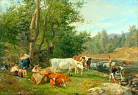 Anders Askevold: Landscape with Cattle