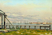 Кристофер Вильхельм Эккерсберг: View from the Lime-kilns in Copenhagen