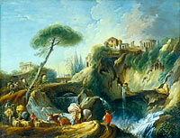 François Boucher: View of Tivoli with the Temple of Vesta