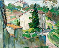 The Red Roofs. Study from the South of France