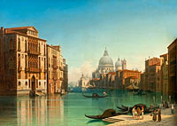 Gustaf Wilhelm Palm: View of Canal Grande in Venice