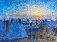 Eugène Jansson: Sunrise over the Rooftops. Motif from Stockholm