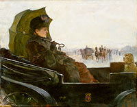 Lady in a Landau. Motif from Paris