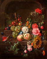 Cornelis de Heem: Still Life with Flowers and Fruit