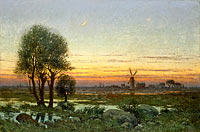 Per Ekström: Autumn Landscape in the Glow of Sunset