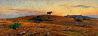 Nils Kreuger: Öland Heath at Sunset