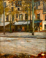 Hugo Birger: A Street in Paris. Study from Montmartre