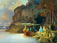 Johan Christoffer Boklund: Carl's Cliff. View of Edsviken