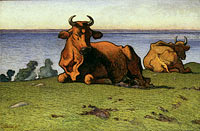 Resting Cows. Motif from Öland
