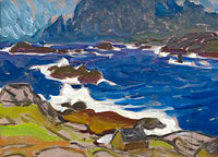 Anna Boberg: Study during a Storm. From Lofoten