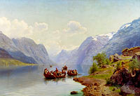 Johan Fredrik Eckersberg: Bridal Escort on the Hardanger Fiord