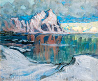 Anna Boberg: Boats between the Mountains. Study from Lofoten