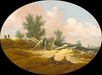Landscape with a Wooden Fence and Figures