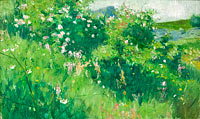 Карл Нордстрем: Briar-Rose Bushes Flowering on the Isle of Tjörn