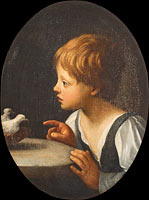 Child with Two Doves. Detail from The Purification of the Virgin""""