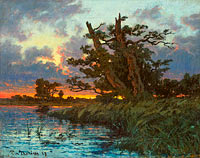Per Ekström: Landscape after Sunset