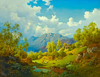 Joachim Frich: Landscape. Motif from the Numme Valley in Norway