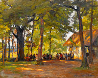 Paul Eduard Crodel: A Tavern in the Forest