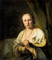Women with Pearls in her Hair