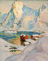 Anna Boberg: An Arctic Spring Day. Study from North Norway