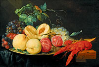Йорис ван Сон: Still Life with Fruit and Boiled Crayfish