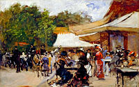 Hugo Birger: Outside a Restaurant in the Bois de Boulogne. Study