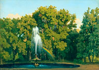 Gustaf Wilhelm Palm: In the Park, Frascati. Study
