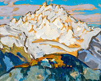 The White Mountain Top. Study from Switzerland