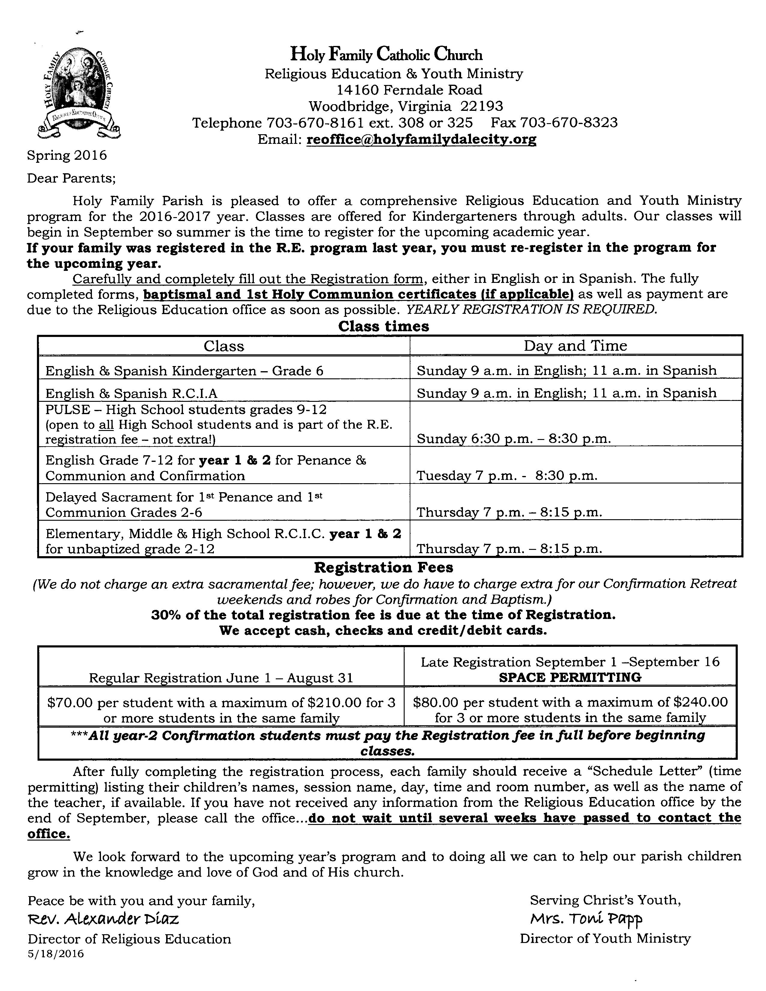 2016 - 2017 CCD Program Information (E)