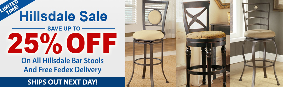 Save Up to 25% Off On Hillsdale Bar Stools