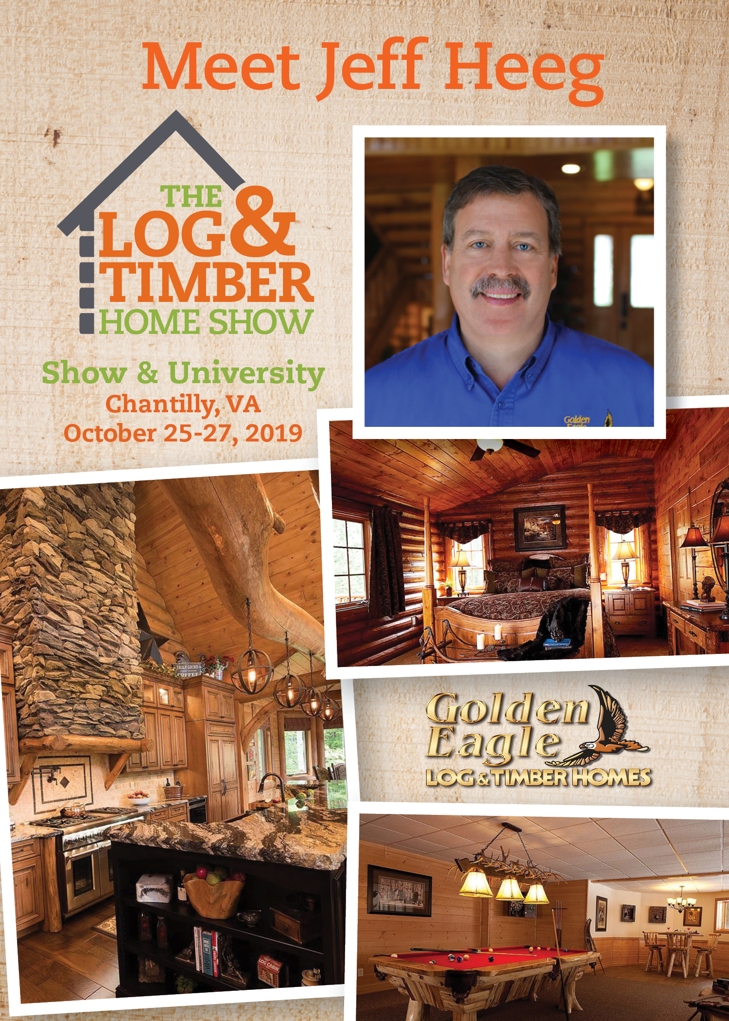 Chantilly, VA | Golden Eagle Log & Timber Homes | Workshop | October 25-27, 2019 | Log & Timber Home Show