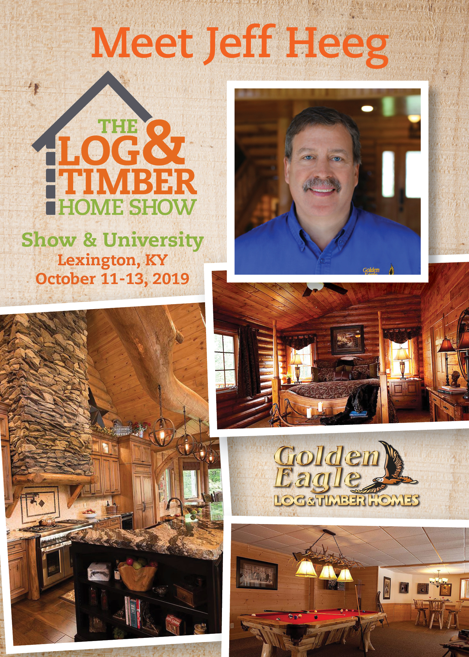 Lexington, KY | Golden Eagle Log & Timber Homes | Workshop | October 11-13, 2019 | Log & Timber Home Show