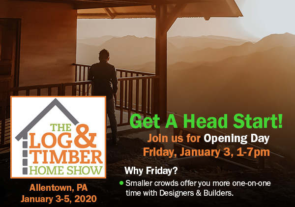 Allentown, PA | Log & Timber Frame Show | January 3-5, 2020